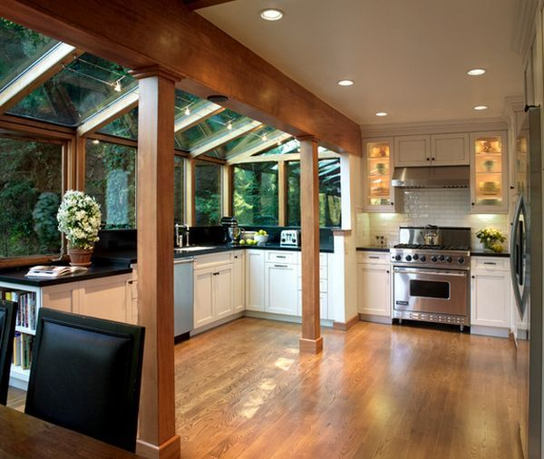 oak and glass kitchen extensions - Google Search | Conservatory .