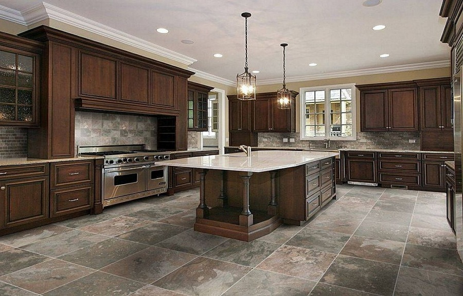 Several kitchen floor tile ideas for you - Video and Photos .