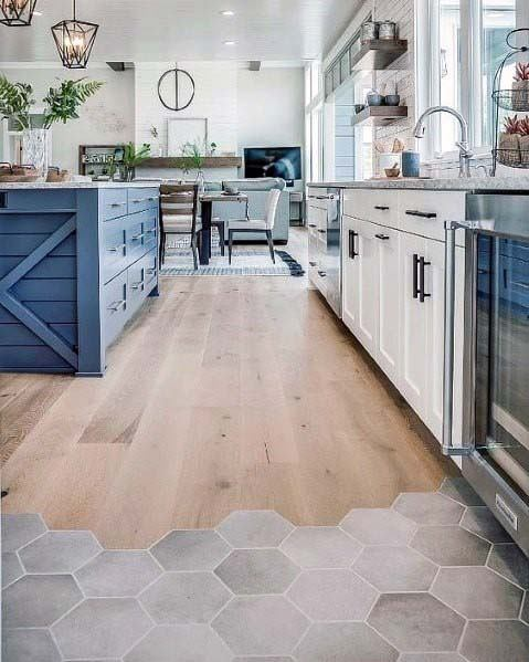 Top 50 Best Kitchen Floor Tile Ideas - Flooring Desig