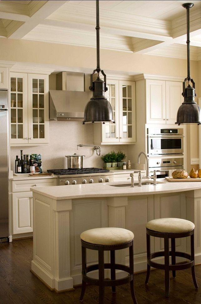 White Kitchen Cabinet Paint Color: Linen white 912 Benjamin Moore .