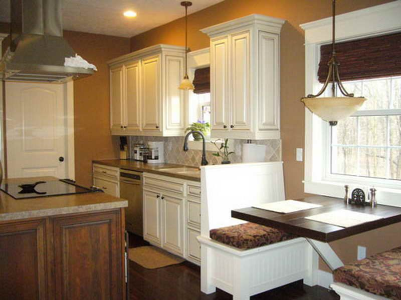 Kitchen Color Schemes with White Cabine