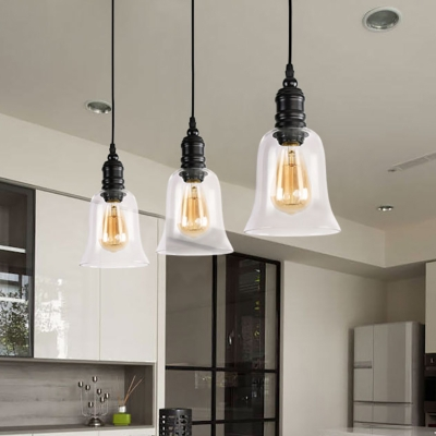 Modern Pendant Ceiling Light Metal and Glass Single-Bulb Hanging .