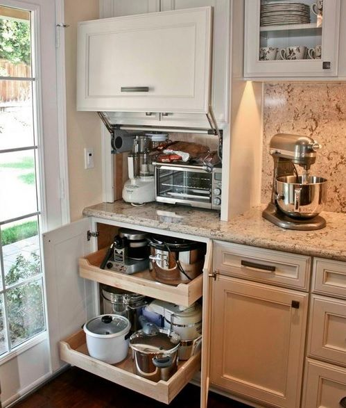 Creative Appliances Storage Ideas For Small Kitchens | Kitchen .