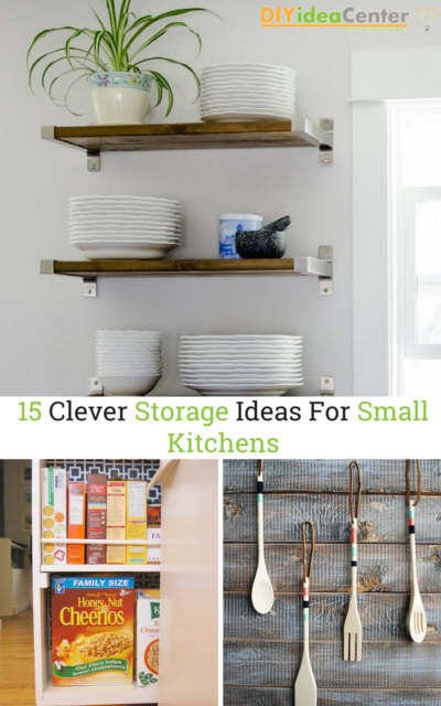 15 Clever Storage Ideas For Small Kitchens | DIYIdeaCenter.c