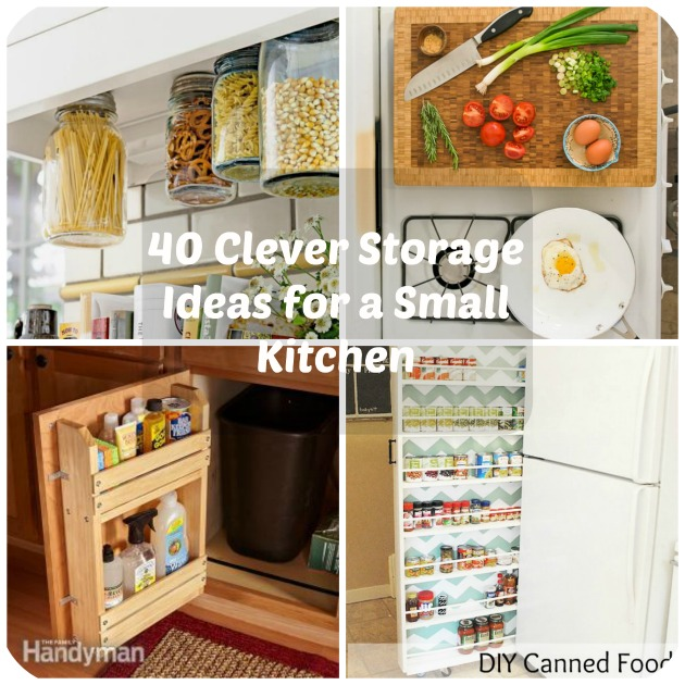 40 Clever Storage Ideas for a Small Kitch