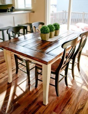 Farmhouse Style Table And Chairs - Ideas on Fot