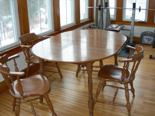 S. Bent and Brothers kitchen table and chairs antique colonial .