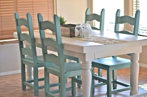 Dining room table makeover. | Dining room table makeover, Painting .