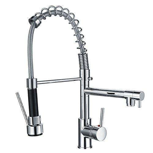 Funime® Kitchen Taps with Pull Down Spray Swivel Spring Spout .