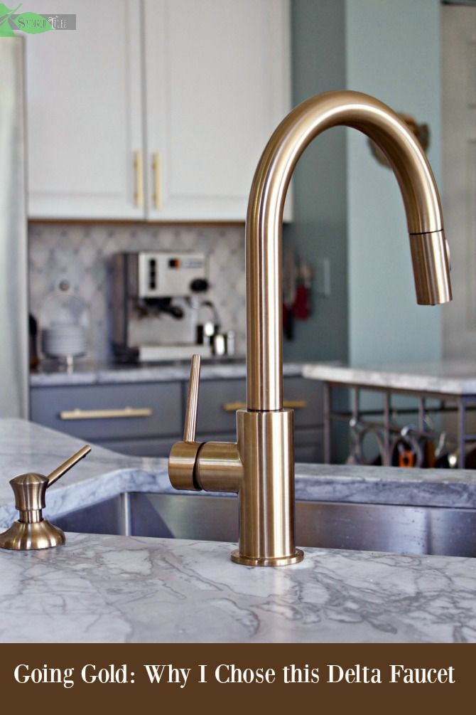 Delta Gold Kitchen Faucet Super Chic and Functional   Gold kitchen .