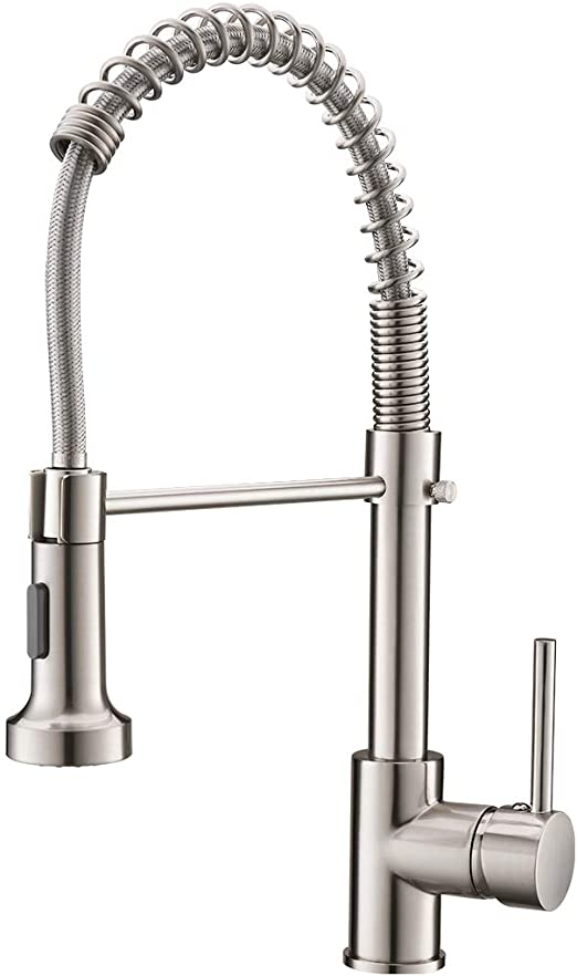 Commercial Pull Down Sprayer Kitchen Sink Faucet, Modern Stainless .