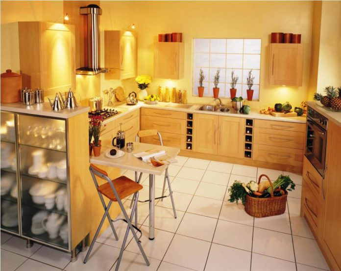 Sunflower Kitchen Theme for Fresher But Simple Kitch