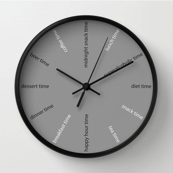 Kitchen wall clock, fun clock, modern wall clock, diet clock .