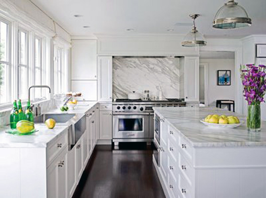 Can you have White Cabinets with Espresso Hardwood Floors?   Maria .