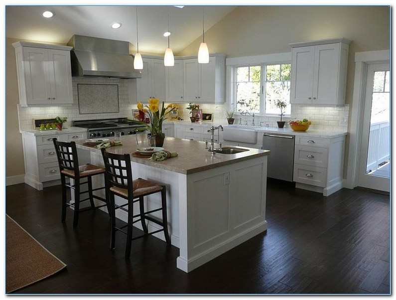 √√ KITCHEN With White CABINETS And Dark Floors   Home Interior .