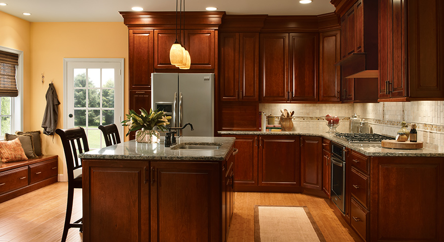 4 Unique Ways To Use Cherry Cabinets In Your Kitchen - KraftMa
