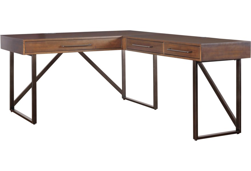 Ashley Signature Design Starmore L-Shaped Home Office Desk with .