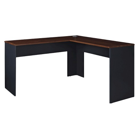 Eastcrest Contemporary L-Shaped Desk - Cherry/Slate Gray - Room .