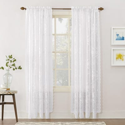 Buy White, Lace Curtains & Drapes Online at Overstock | Our Best .