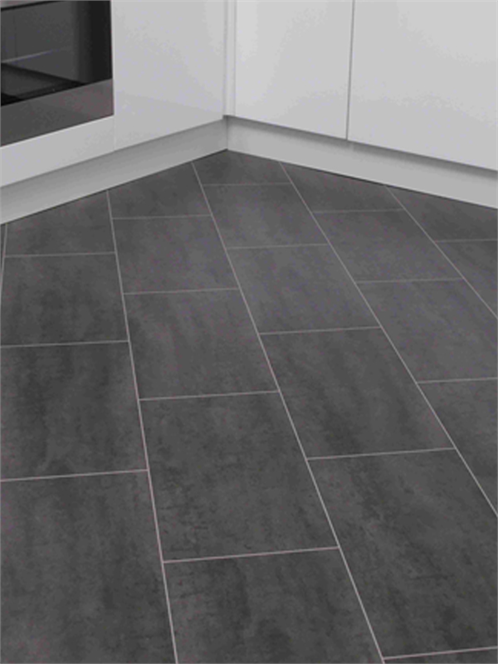 Black laminate tiles- like these, but considering laying tile .