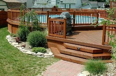 Landscaping Around Above Ground Pools | Above Ground Pool .
