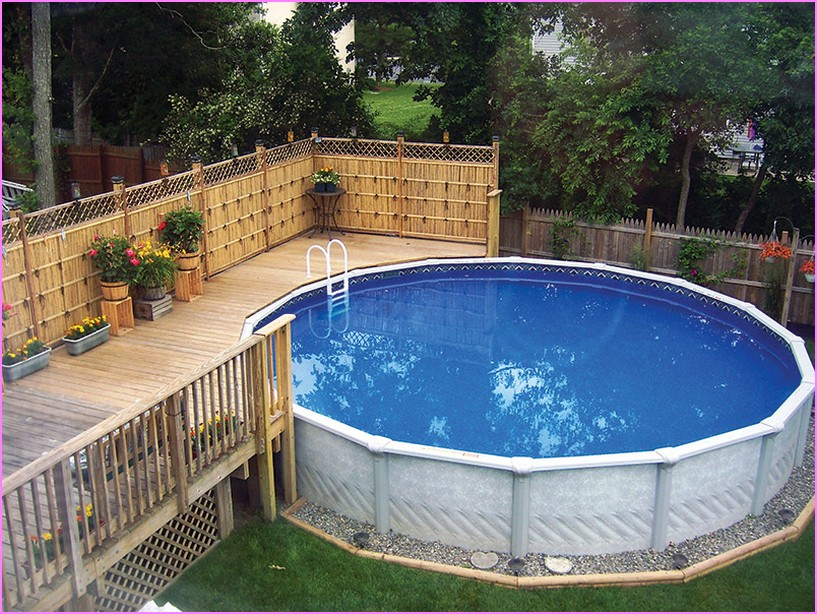 Gorgeous Above Ground Pool Landscaping Ideas Around Swimming .