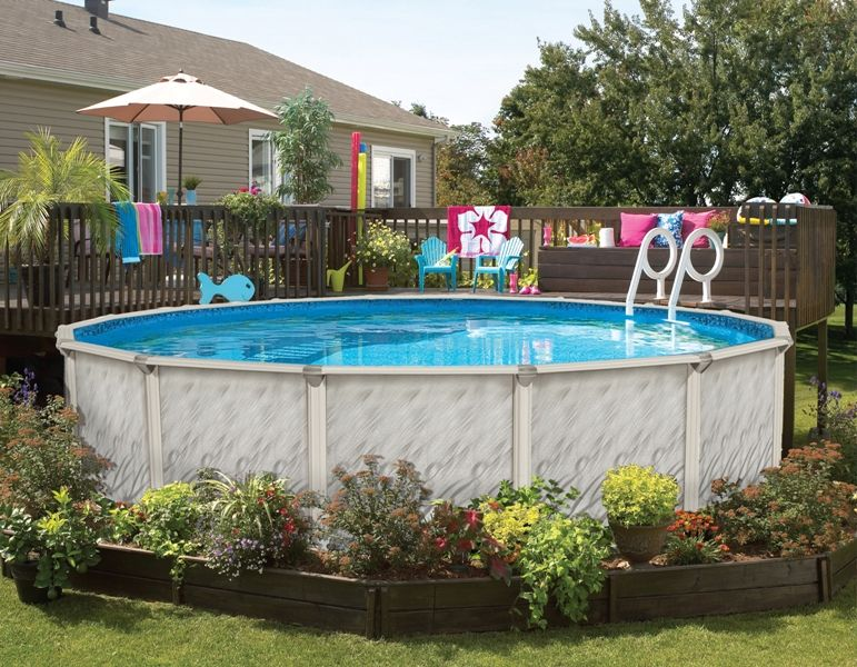 Landscaping Ideas Around Above Ground Pool