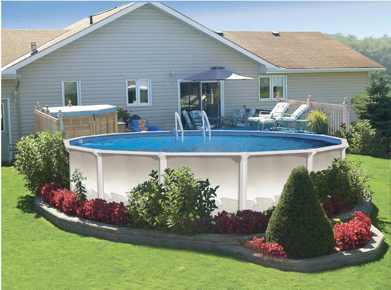 Above Ground Pool Landscaping Ideas - Pool and Landsca