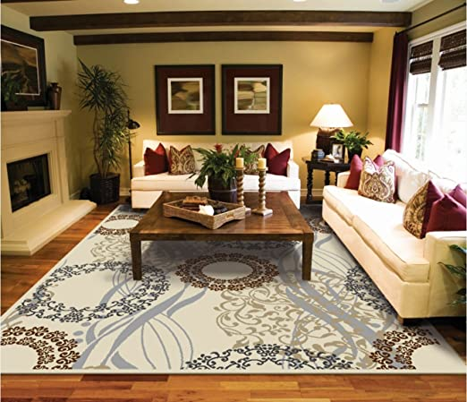 Amazon.com: Large Area Rugs 8x11 Dining Room Rugs for Hardwood .
