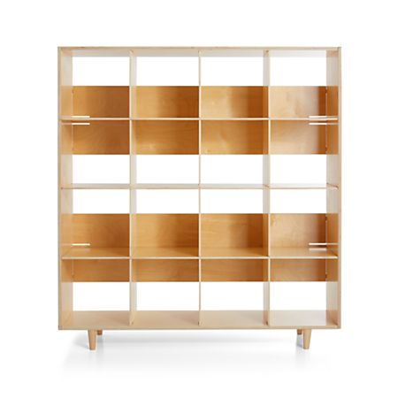 Large Birch Bookcase + Reviews | Crate and Barr