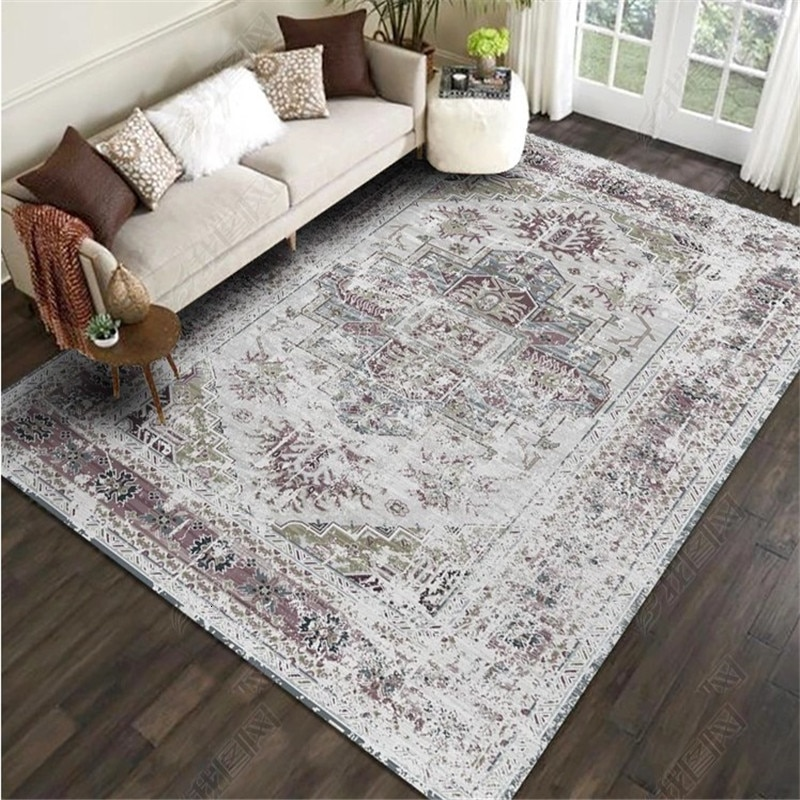 200x300CM American Style Retro Carpet For Living Room Bedroom .