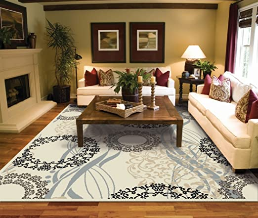 Amazon.com: Large Rugs for Living Room 8x10 Cream Area Rugs 8x10 .