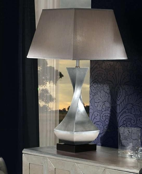 Beautiful Silver Table Lamps Living Room Design | Large table .