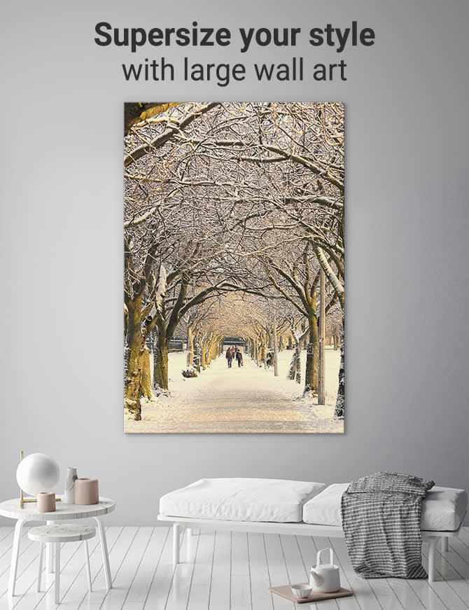 Large wall art - how to supersize your style with large canvas prin