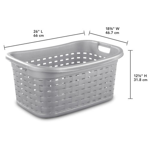 Sterilite® 1.8 Bushel Cement Weave Laundry Basket at Menards