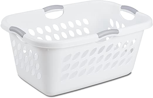 Amazon.com: Sterilite 12158006 Ultra Laundry Basket, White with .
