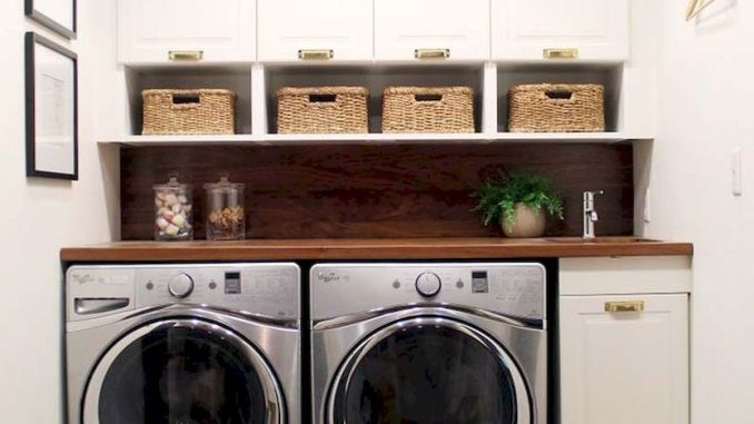 55 Best Small Laundry Room Photo Storage Ideas - SHAIROOM.C