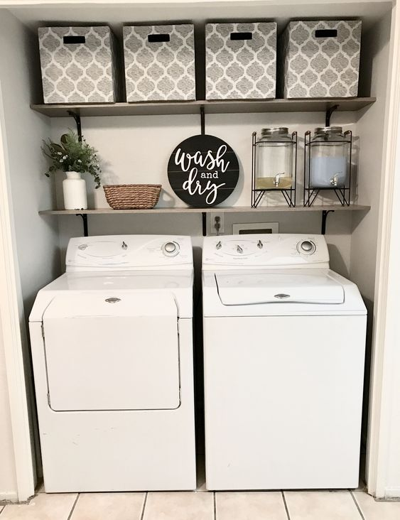 30 Small Laundry Room Decoration Ideas For You - Chic Hoste