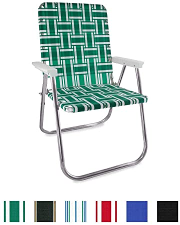 Amazon.com: Lawn Chair USA Aluminum Webbed Chair (Classic, Green .