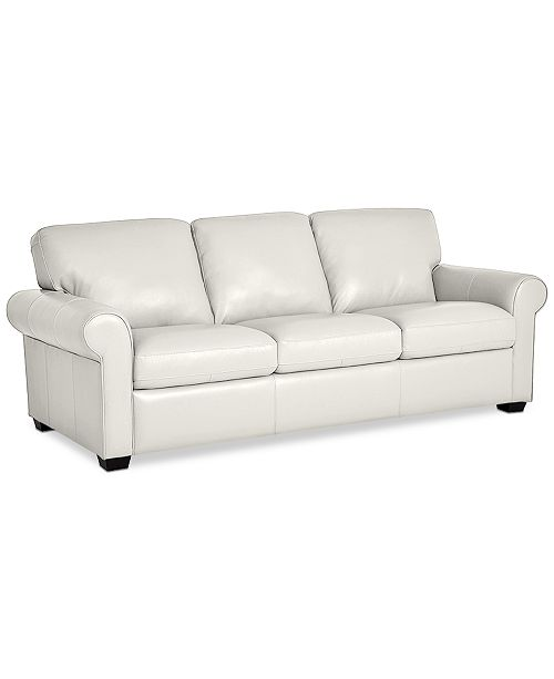 "Furniture Orid 84"" Leather Sofa, Created for Macy's & Reviews ."