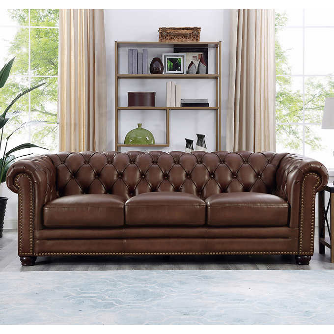 Allington Top Grain Leather Sofa - Bro