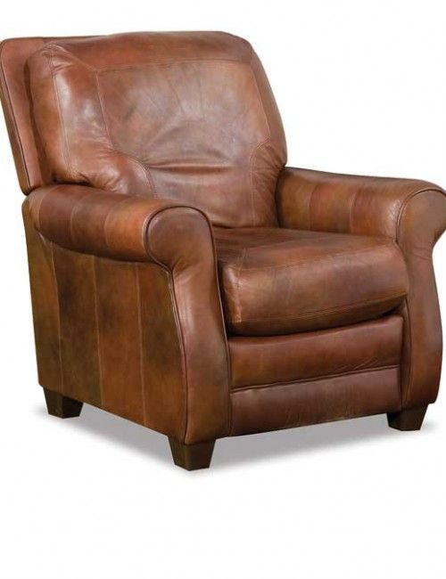 Small brown leather recline