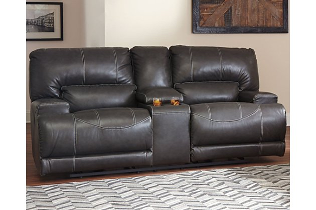 McCaskill Power Reclining Loveseat with Console | Ashley Furniture .