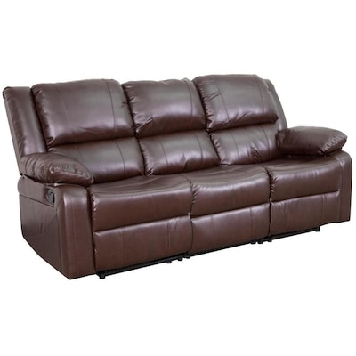 Flash Furniture Harmony Series Modern Brown Leather Faux Leather .