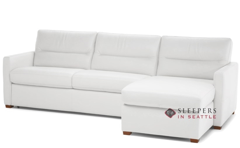 Quick-Ship Conca Chaise Sectional Leather Sofa by Natuzzi | Fast .
