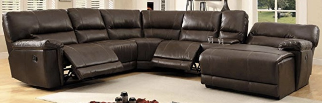 Top 13 Leather Sectional Sofas with Recliners - 2020 Reviews .