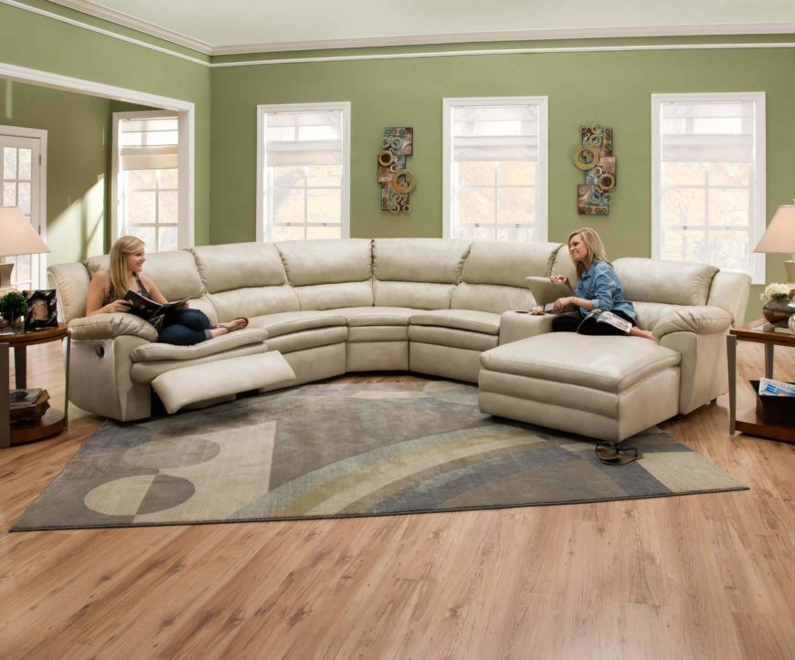 25 Contemporary Curved and Round Sectional Sofas | Leather .