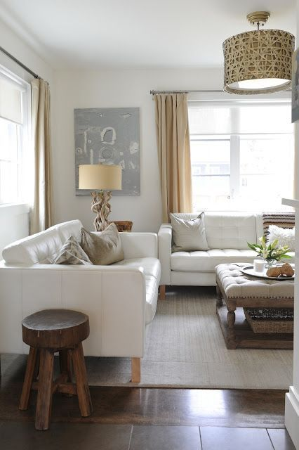 White Leather Love | Leather living room furniture, White leather .