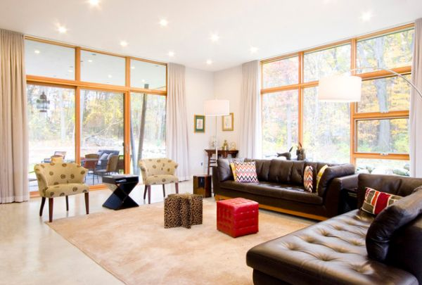 Give Your Living Room An Elegant Look With A Brown Leather So
