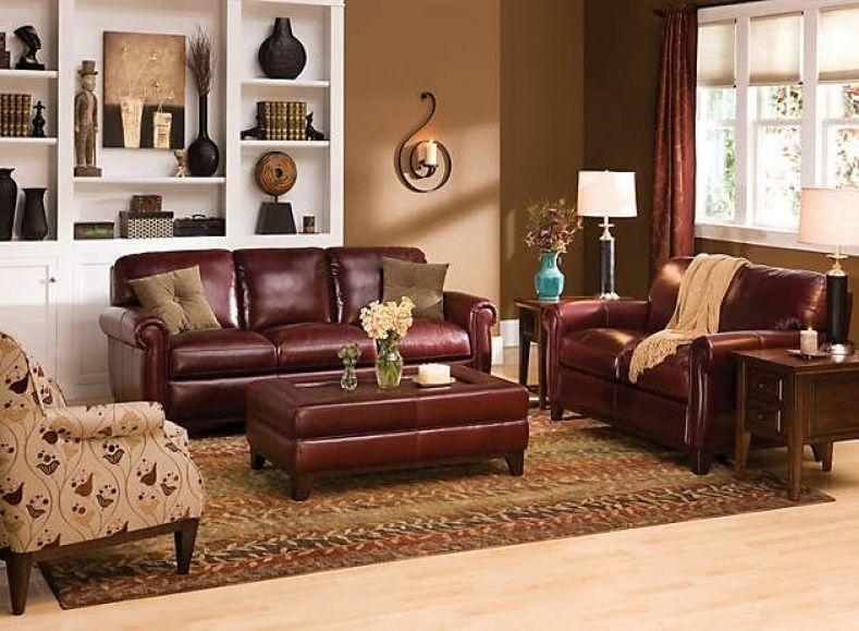 Burgundy Leather Couch Decorating Ideas (With images) | Burgundy .